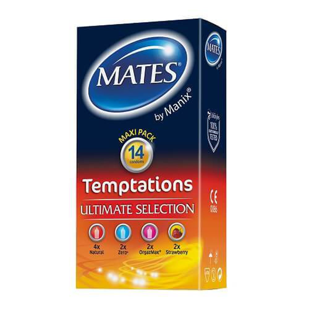 Mates Temptations Condoms 14 Pack - The Condom People