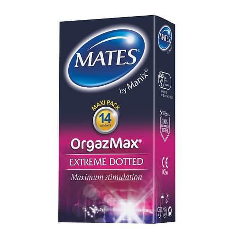 Mates OrgaszMax Condoms - 14 Pack