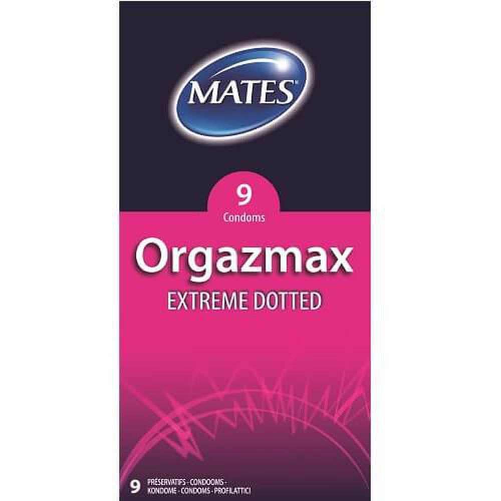 Mates Orgazmax Extreme Dotted Condoms Pack of 9 | The Condom People