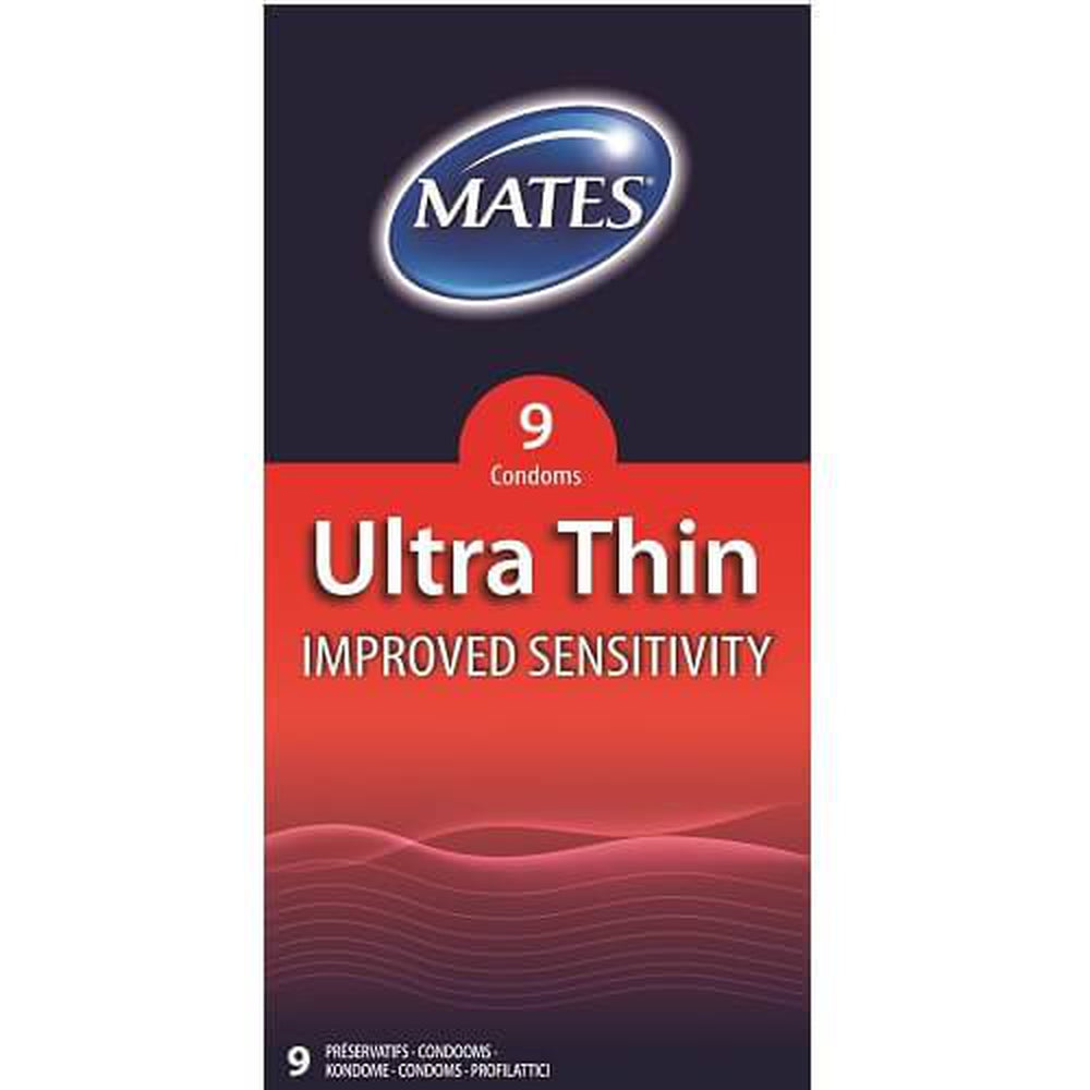 Mates Ultra Thin Condoms Pack of 9 | The Condom People