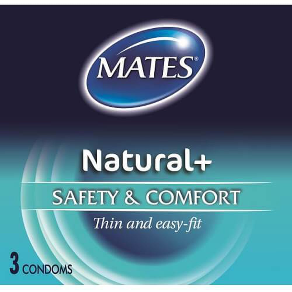 Mates Natural Condoms Pack of 3 | The Condom People