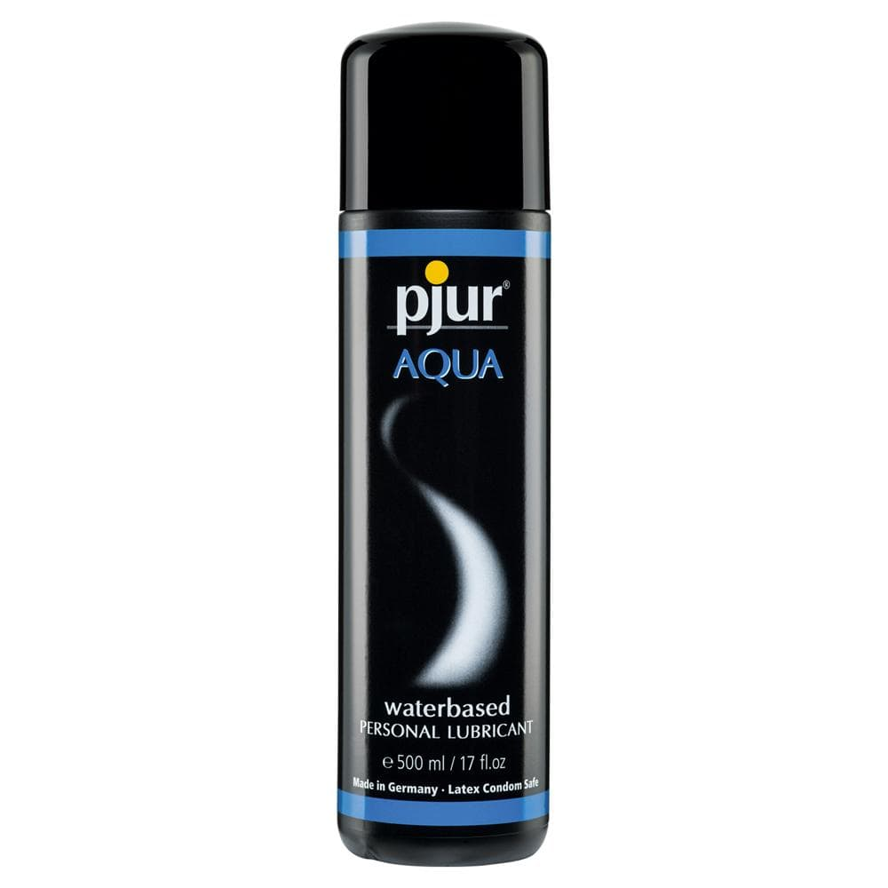 Pjur Aqua Water Based Lubricant 500 ml / 16.9 fl oz - The Condom People