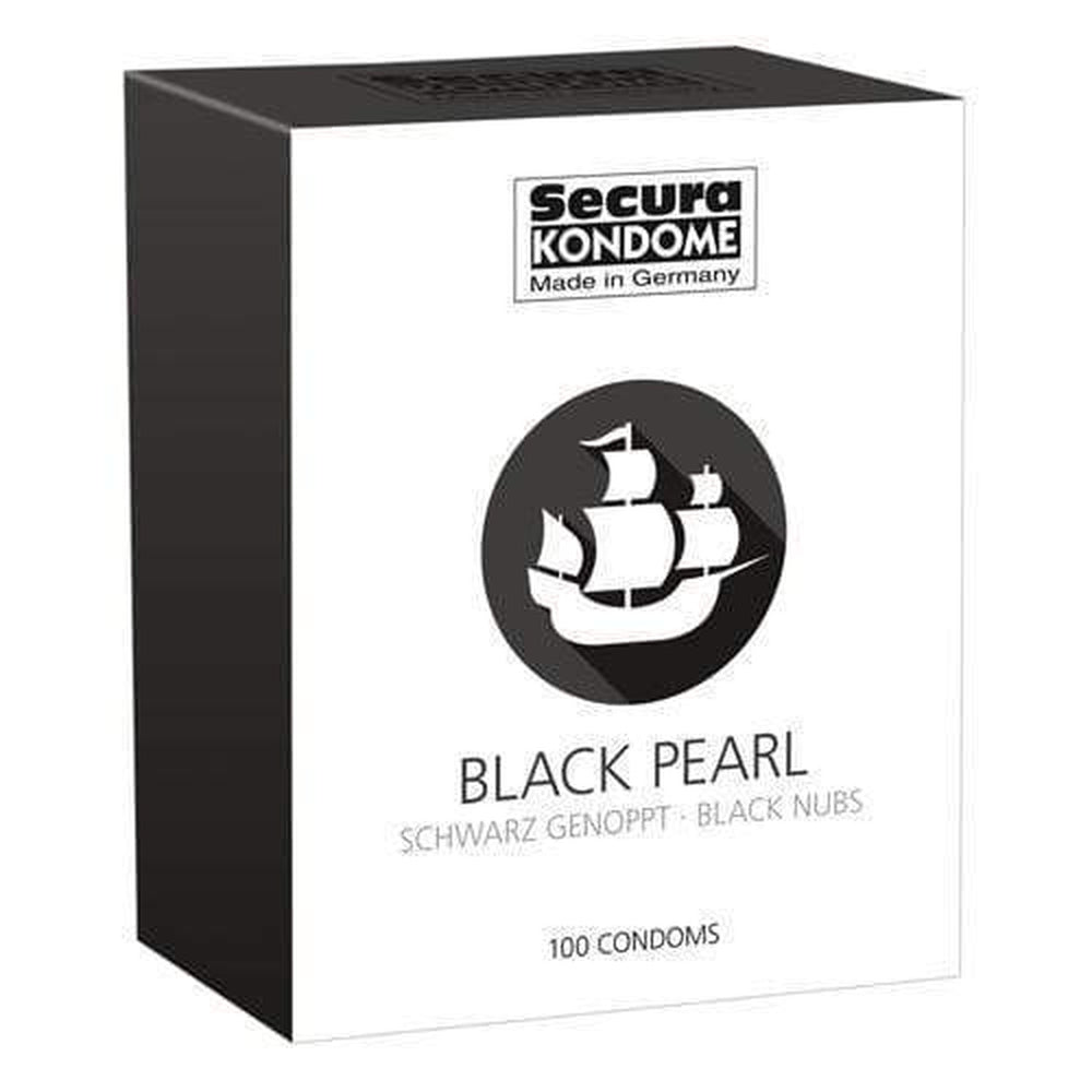Secura Kondome Black Pearl Condoms Pack of 100 - The Condom People