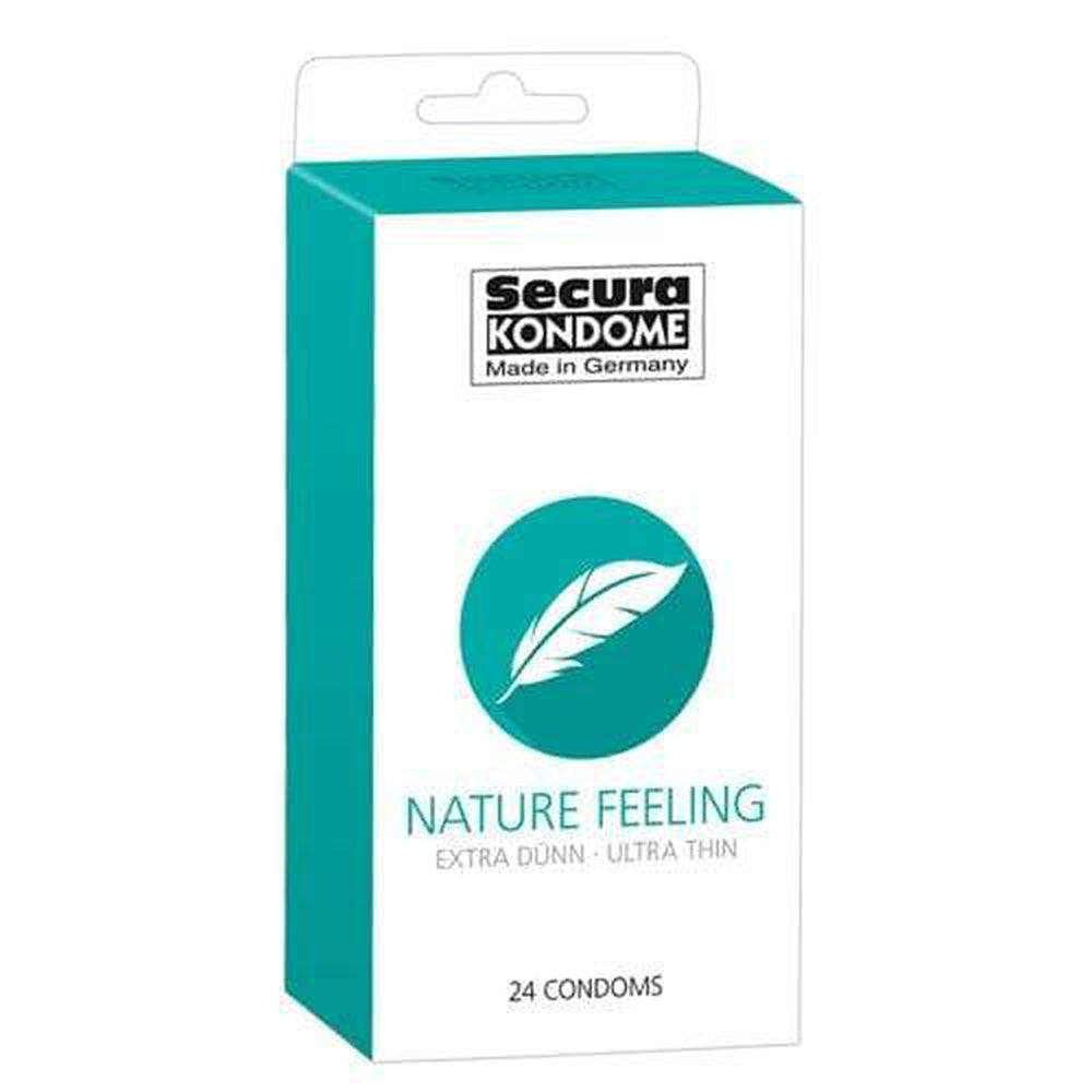 Secura Kondome Nature Feeling Ultra Thin Condoms Pack of 24 - The Condom People