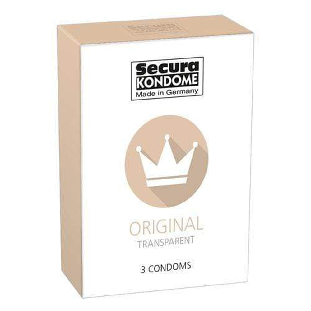 Secura Kondome Original Transparent Condoms Pack of 3 - The Condom People