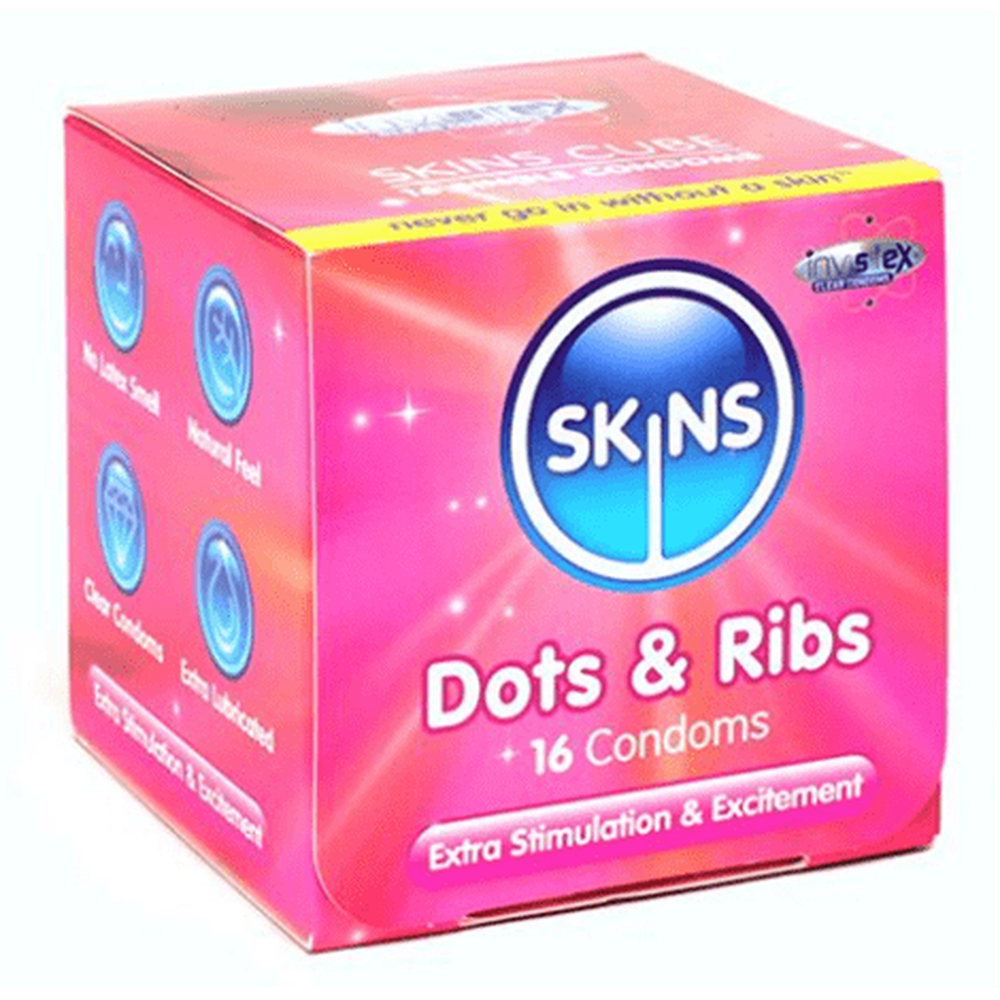 Skins Condoms Cubes Mix It Value Pack - 48 Pack - The Condom People
