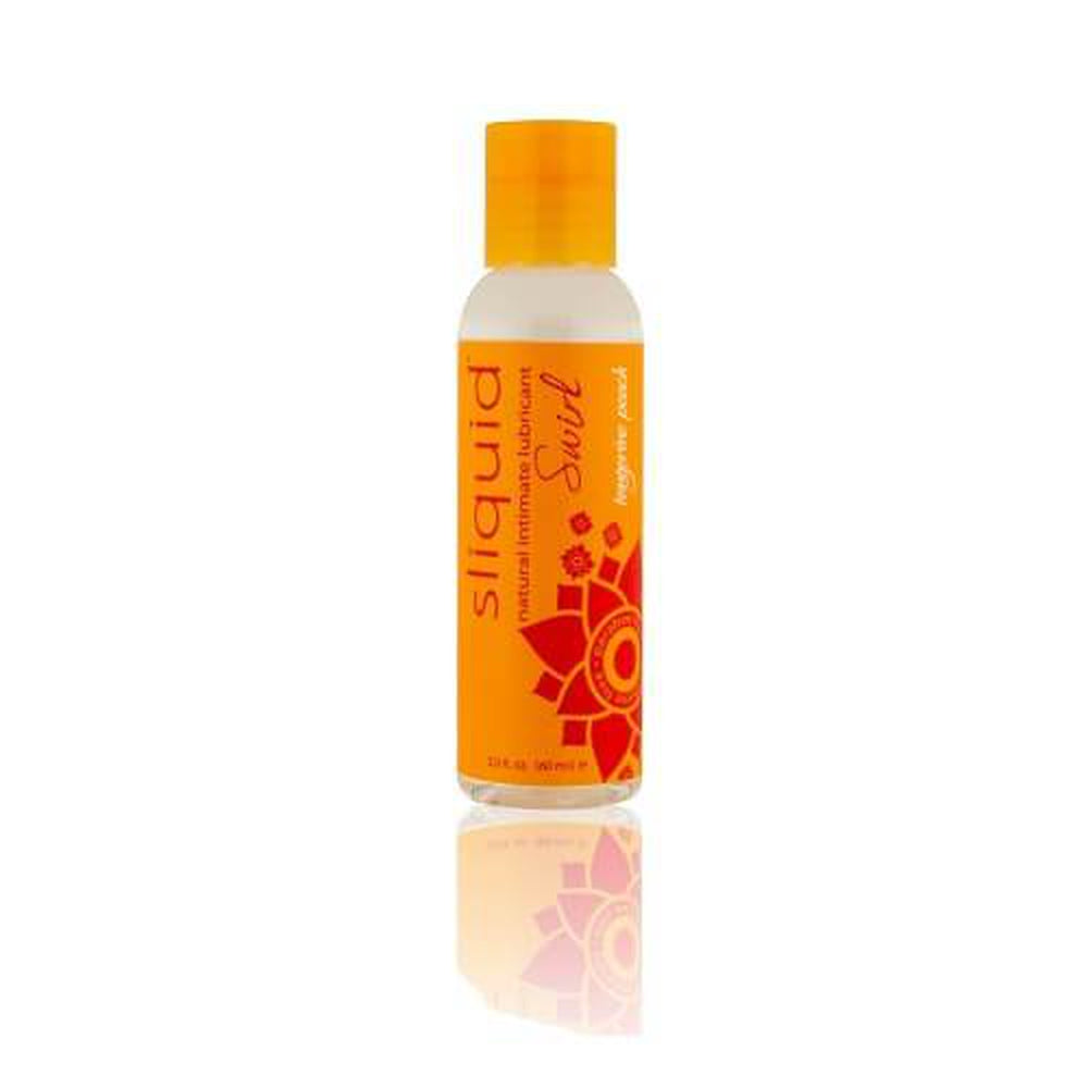 Sliquid Naturals Swirl Flavoured Lubricants-Tangerine Peach 59 ml / 2 fl oz - The Condom People
