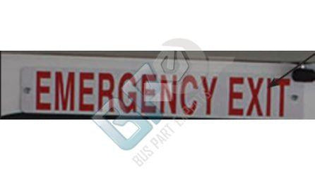 13-003-048 STARTRANS EMERGENCY EXIT, RED, ABS - buspartexperts.com