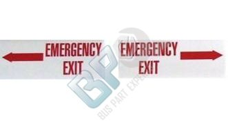 5034 ELKHART DECAL - EMERGENCY EXIT - RIGHT ONLY - buspartexperts.com