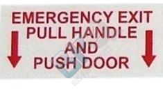 5035 ELKHART DECAL - EMERGENCY EXIT PULL HANDLE AND PUSH DOOR - buspartexperts.com