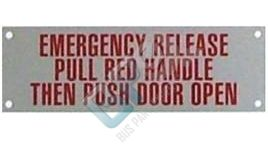 5053 ELKHART DECAL - EMERGENCY RELEASE METAL - buspartexperts.com