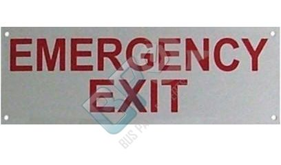 5054 ELKHART DECAL - EMERGENCY EXIT METAL - buspartexperts.com