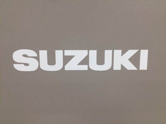 White Suzuki Samurai Tailgate Sticker Decal 87-95 Emblem Door Top-0