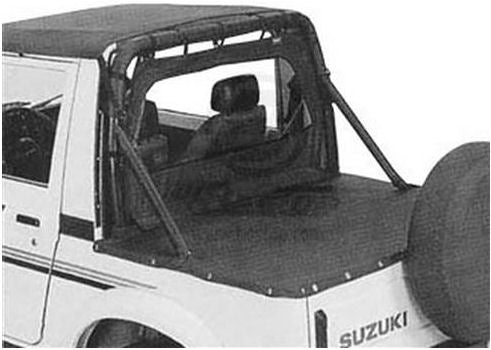 Bestop Black Windjammer Cab Soft Top for Suzuki Samurai