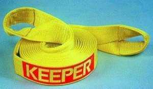 Keeper Recovery Tow Strap: 20' X 2