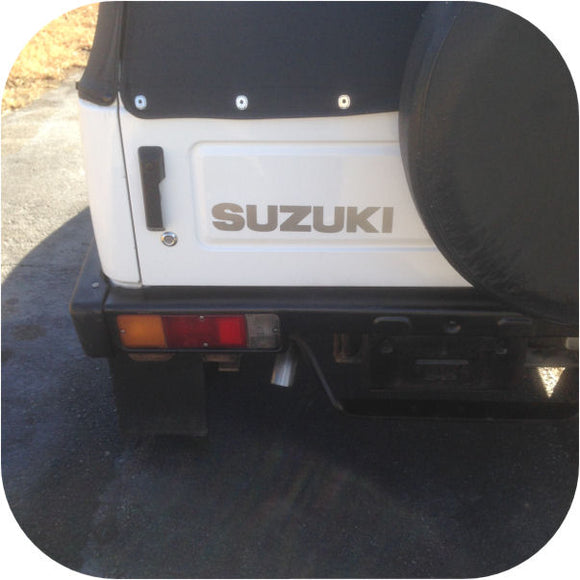 Silver Suzuki Samurai Tailgate Sticker Decal 87-95-0
