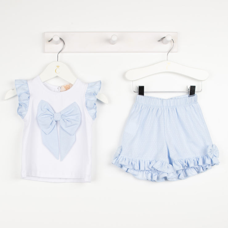 Sky & White Short Set