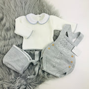 Grey & Cream Knitted Romper Separates