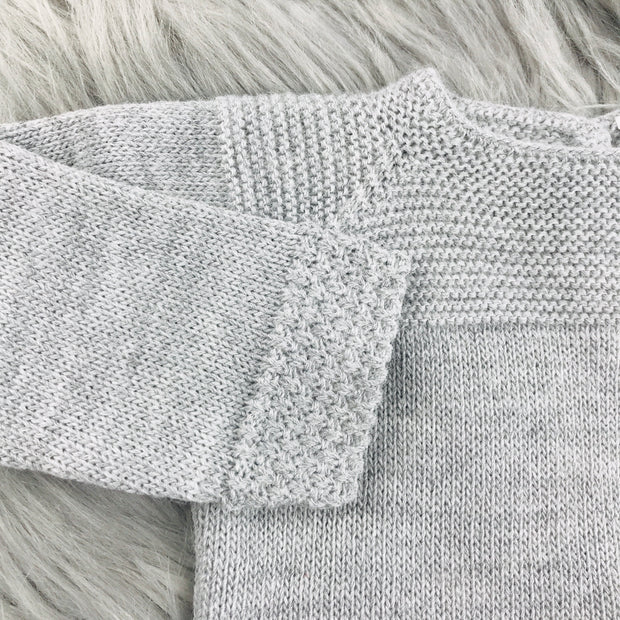 Grey Knitted Top Close