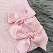 Pink Knitted Bows