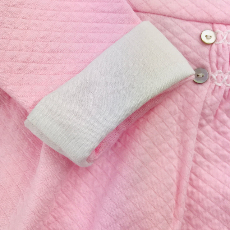 Pink Quilted Effect Sleepsuit Cuffs
