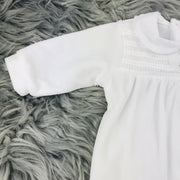 White Velour Sleepsuit by Babidu