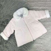 Baby Pink Quilted Coat by Babidu