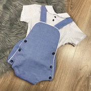 Demin Blue Romper & Shirt Set