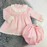 Pink Long Sleeve Spanish Jam Pants Set