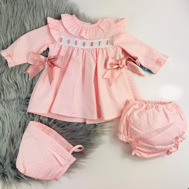 Pink Ribbon & Bows Spanish Jam Pants Set