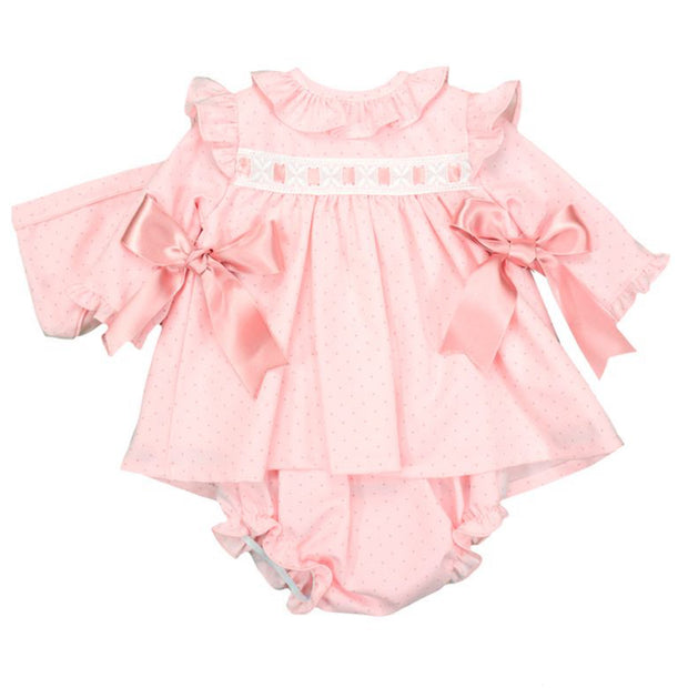 Baby Ferr Pink Ribbon & Bows Spanish Jam Pants Set