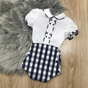 White & Navy Blue Traditional Spanish Set