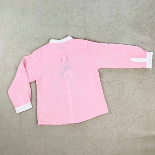 Boys Pink Shirt & Shorts Set
