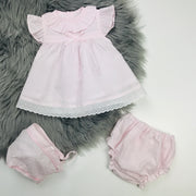 Pale Pink Dobbie Dress Set