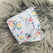 Blue Stripped Floral Bonnet