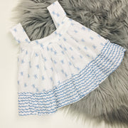 Blue & White Top