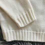 Cream Knitted Spanish Cardigan Cuffs & Hem