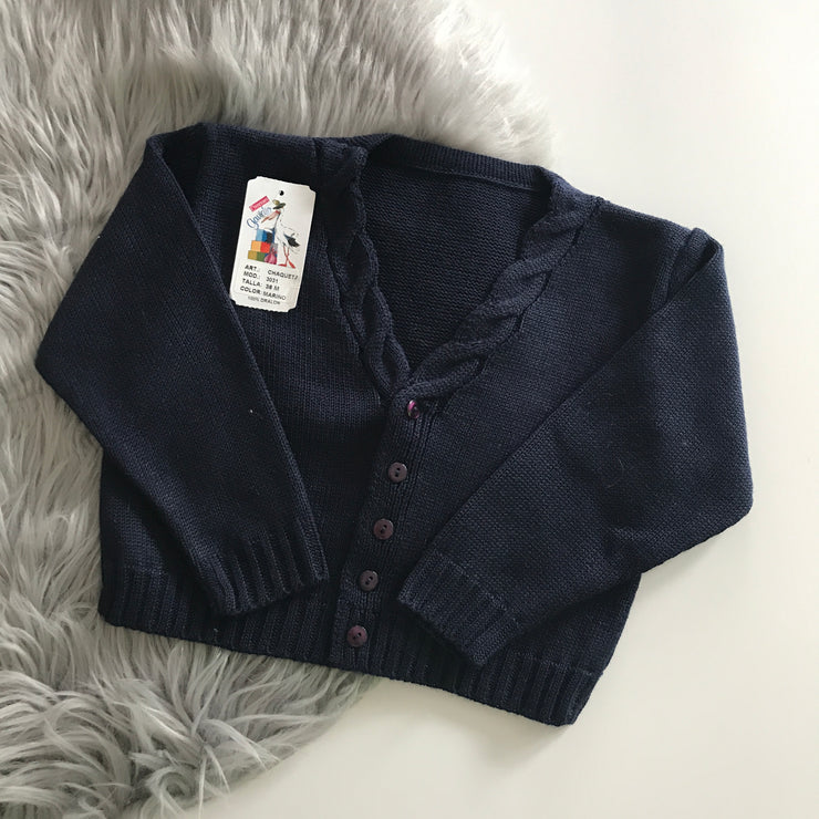 Navy Blue Knitted Spanish Cardigan