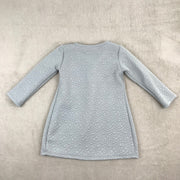 Grey Jacquard Bow Dress