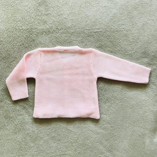 Pink Ribbon & Bow Knitted Spanish Cardigan