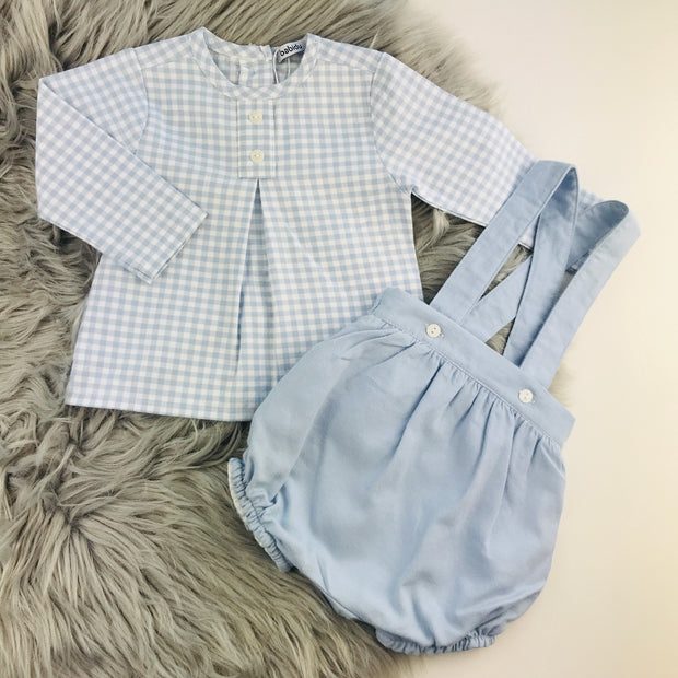 Blue & White Checked Traditional Spanish Set Separates