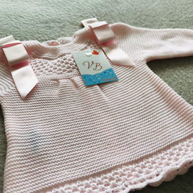 Pink Spanish Knitted Two Piece Set