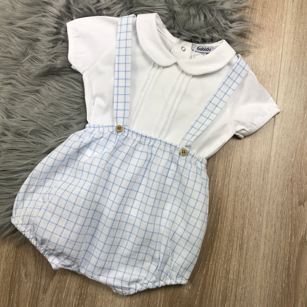 Blue & White Checked Traditional Spanish Set