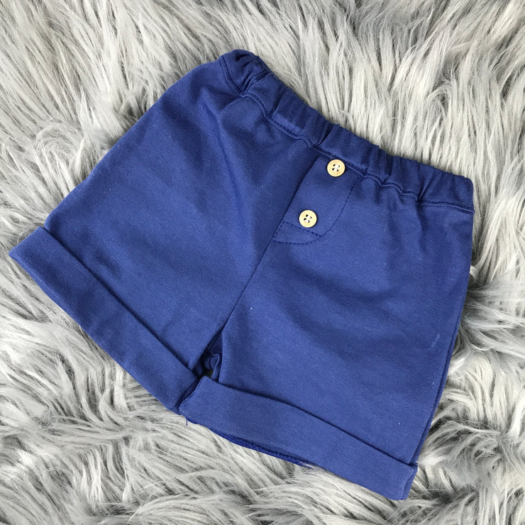 Navy Blue & White Shorts