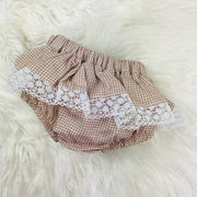 Rose Gold Checked  Jam Pants Set Back