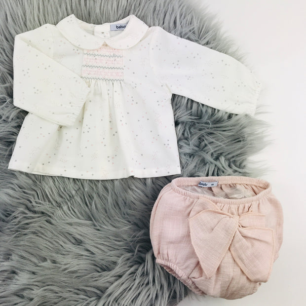 Dusky Rose & Cream Spanish Jam Pants Set