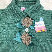 Green Knitted Spanish Pram Coat