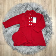 Red Knitted Spanish Pram Coat