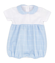White & Sky Blue Spanish Romper