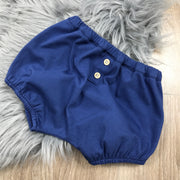 Navy Blue & White Shorts & T-Shirt Set Shorts